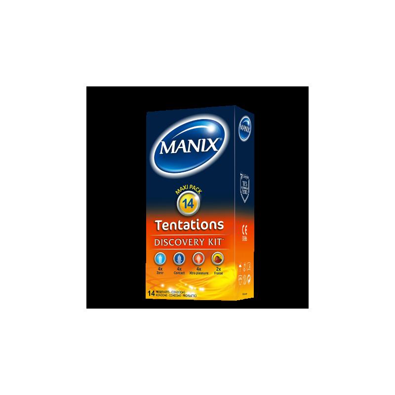 MANIX - TENTATION - Boîte de 14 préservatifs