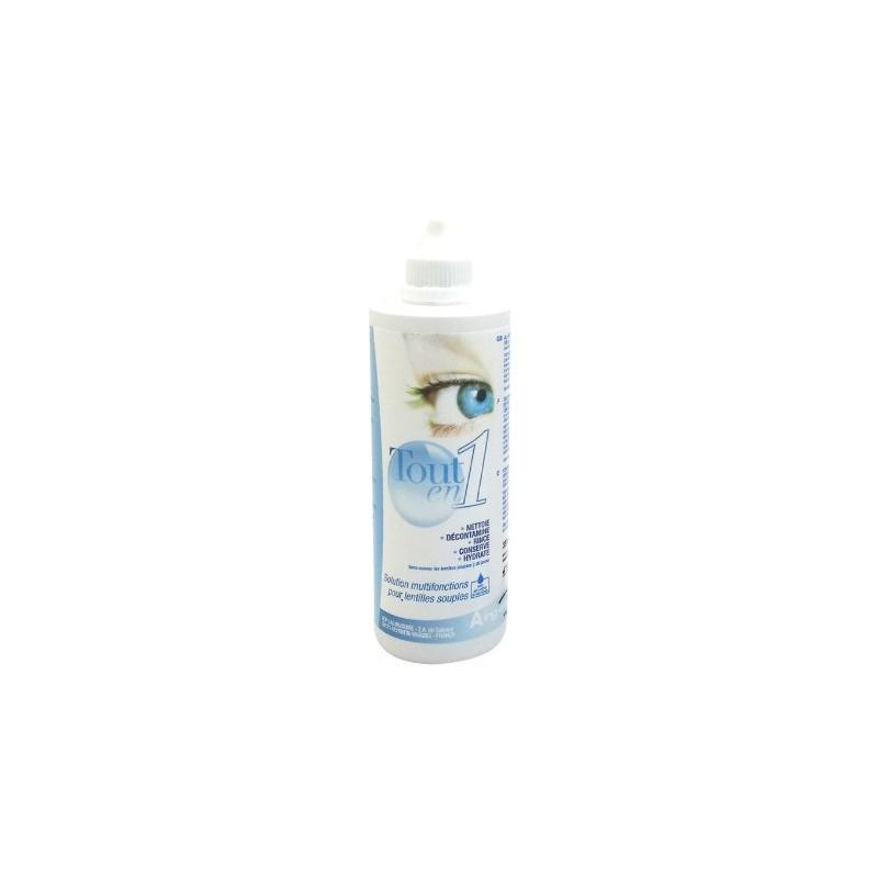 Solution nettoyante lentilles tout en 1 - Flacon de 350 ml