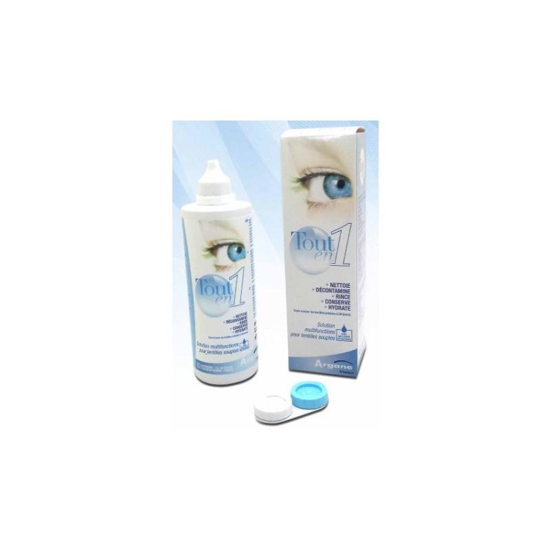 Solution nettoyante lentilles tout en 1 - Pack de 100 ml + 350 ml