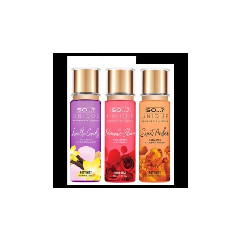 Trio Unique Lovely Amber / Romantic / Vanille 3x 150ml